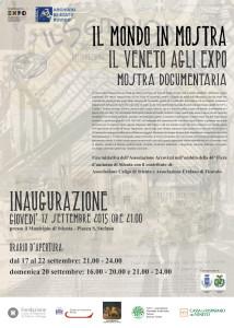 Il mondo in mostra. Il Veneto agli Expo.  Stienta (RO) 17 - 22 settembre 2015