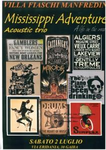 locandina Mississippi Acoustic Trio